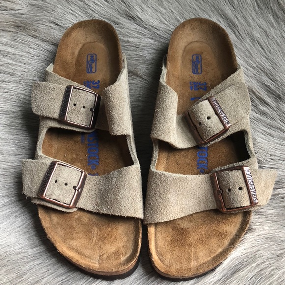 8ea432f373a Birkenstock Shoes - New Birkenstock Arizona Taupe Suede Sandals 37 N